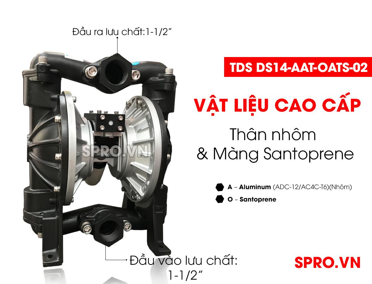 Máy bơm màng khí nén Đài Loan TDS DS14-AAT-OATS-02