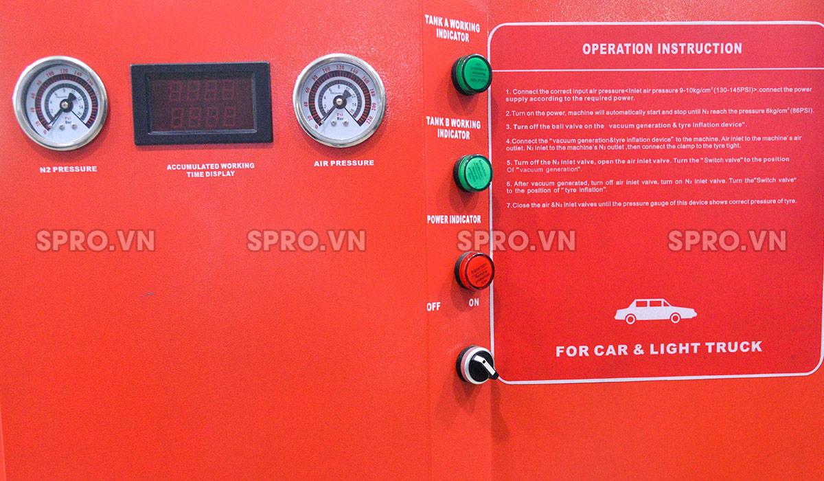 Đường thoát khínước máy bơm khí ni tơ xe ô tô Alphaplus HP-1650