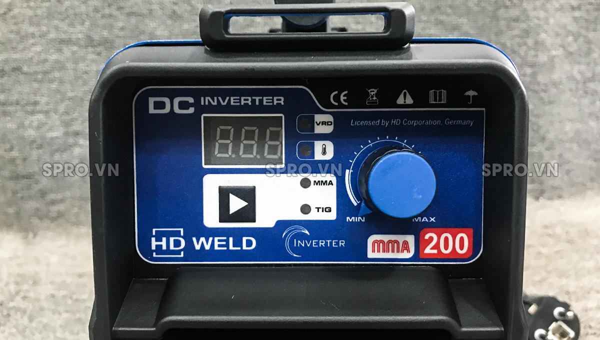 Máy hàn que điện tử HD Weld MMA200