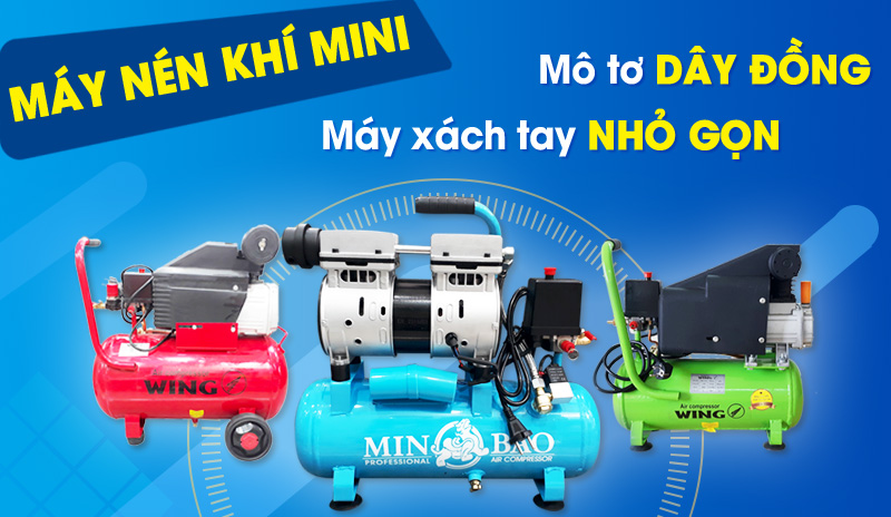 máy nén khí mini xách tay nhỏ gọn