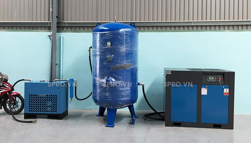 1 hệ thống máy nén khí trục vít pegasus 50hp