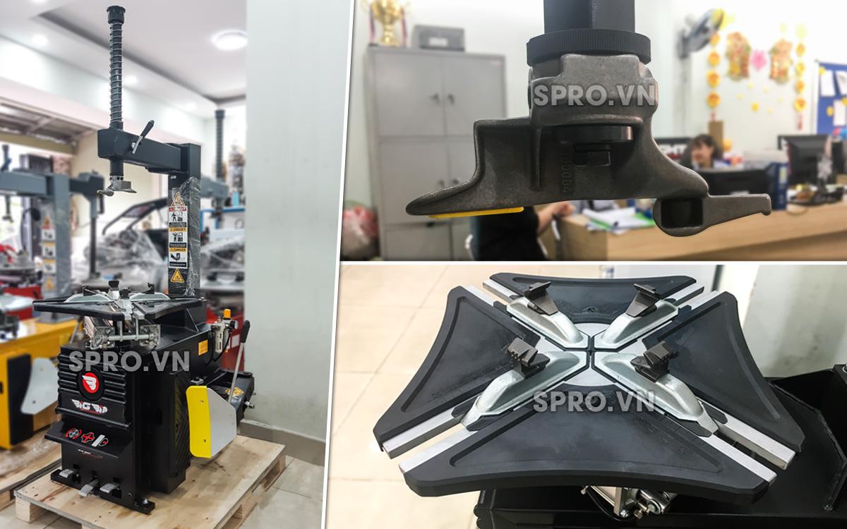 Mở vỏ xe bằng máy tháo vỏ Bigbin chuẩn Hàn Quốc
