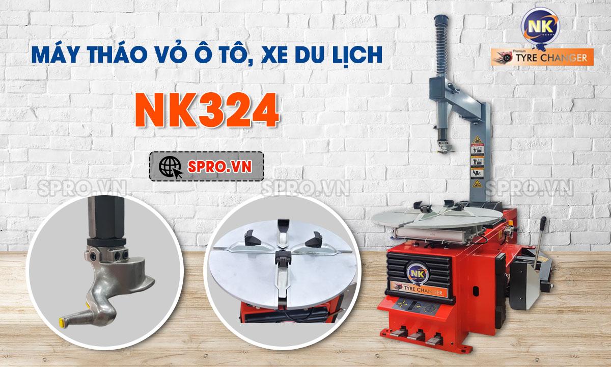 Máy tháo vỏ ô tô NK324 - Máy ra vào vỏ xe hơi, xe tải nhỏ