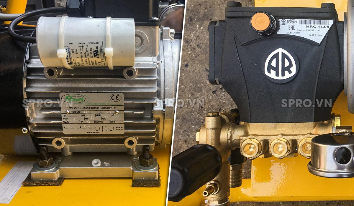 Đầu và motor máy rửa xe áp lực cao AR U22-1408