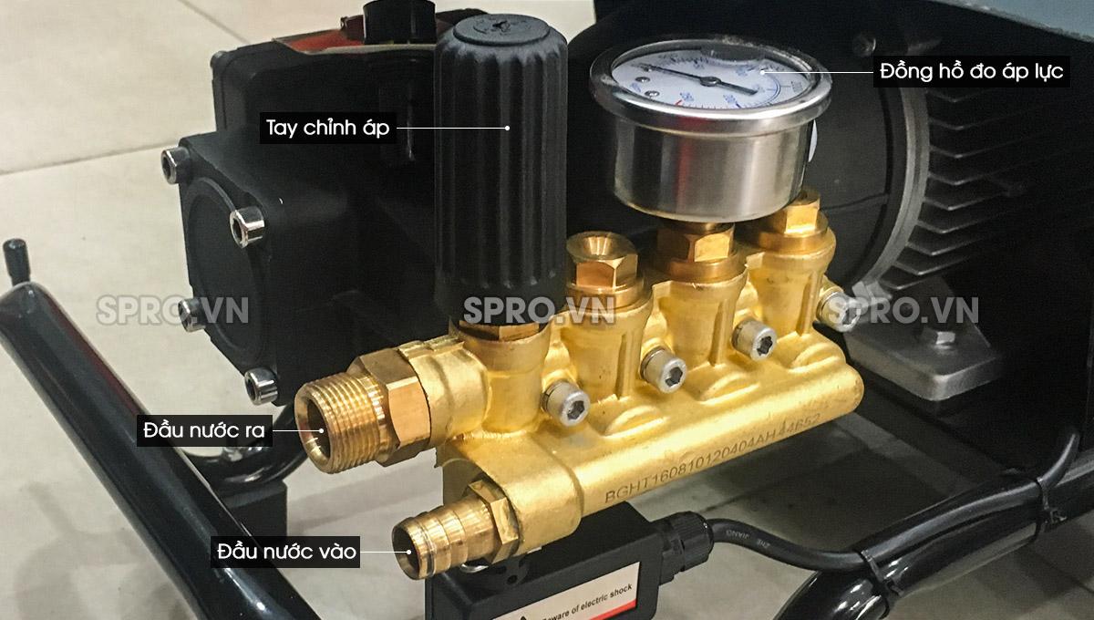 Cấu tạo máy rửa xe cao áp Tonyson HT2.2 - Công suất 2.2kw