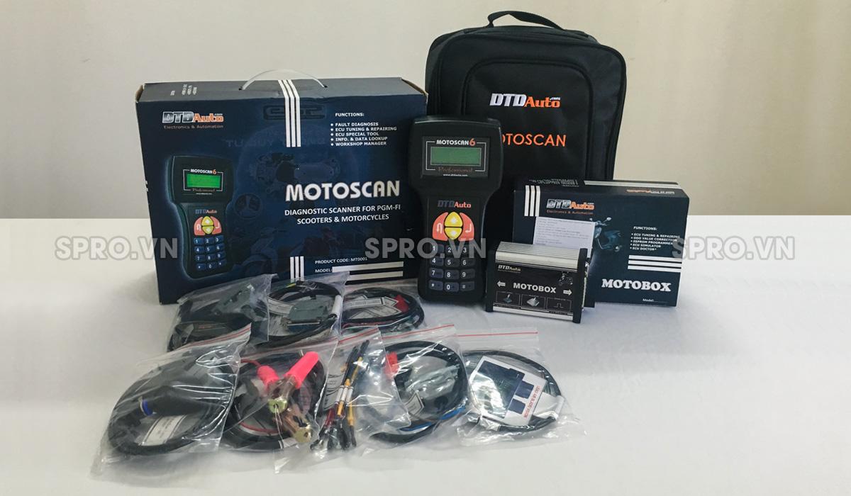 motoscan 6.3 - thiết bị đọc lỗi xe máy phun xăng điện tử full bộ
