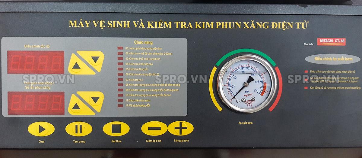 màn hình điều khiển Máy vệ sinh và kiểm tra kim phun xăng điện tử Mitachi CT68