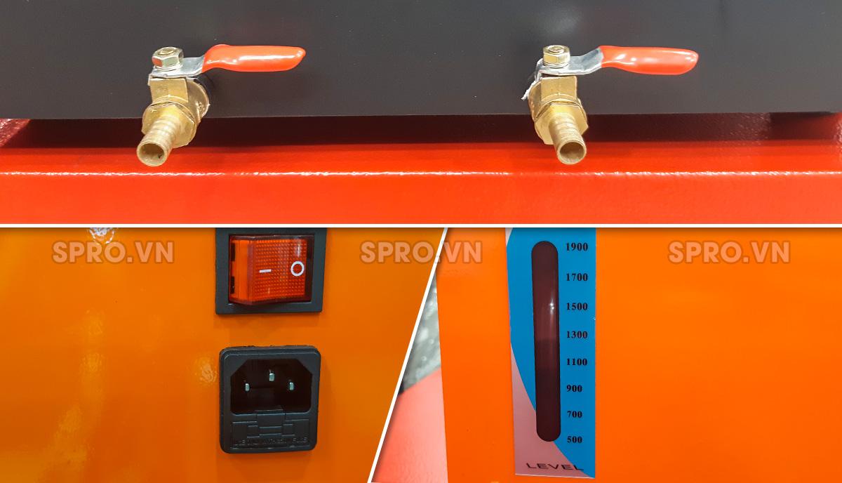 Van xả hóa chất –Công tắc nguồn –Mức đo lưu lượng hóa chất