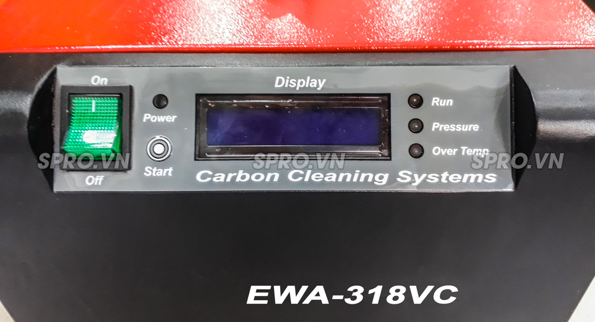 máy vệ sinh buồng đốt xe máy, làm sạch muội các bon động cơ ewa 318VC