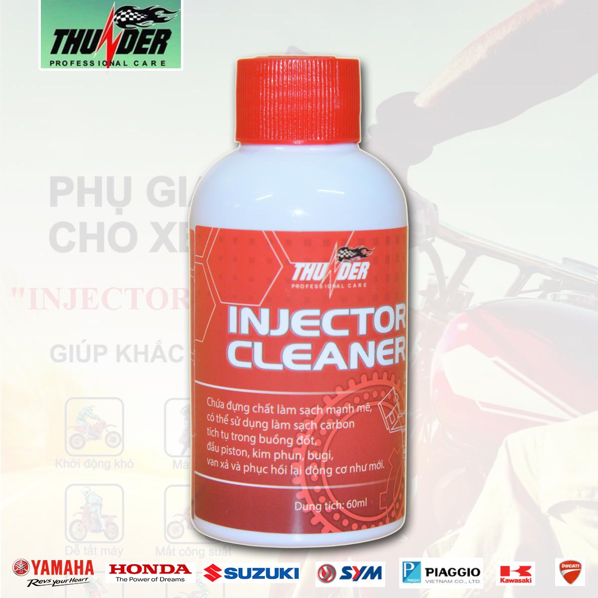 Dung dịch Injector Cleaner giúp vệ sinh và chống tạo mảng bám trong Kim phun, Bình xăng con, Piston, Buồng đốt.