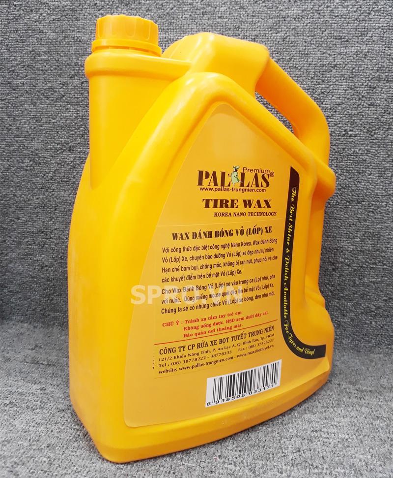 Hóa chất đánh bóng lốp 6L của Pallas