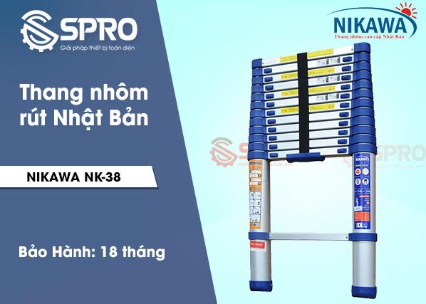 Thang nhôm rút nikawa NK-38