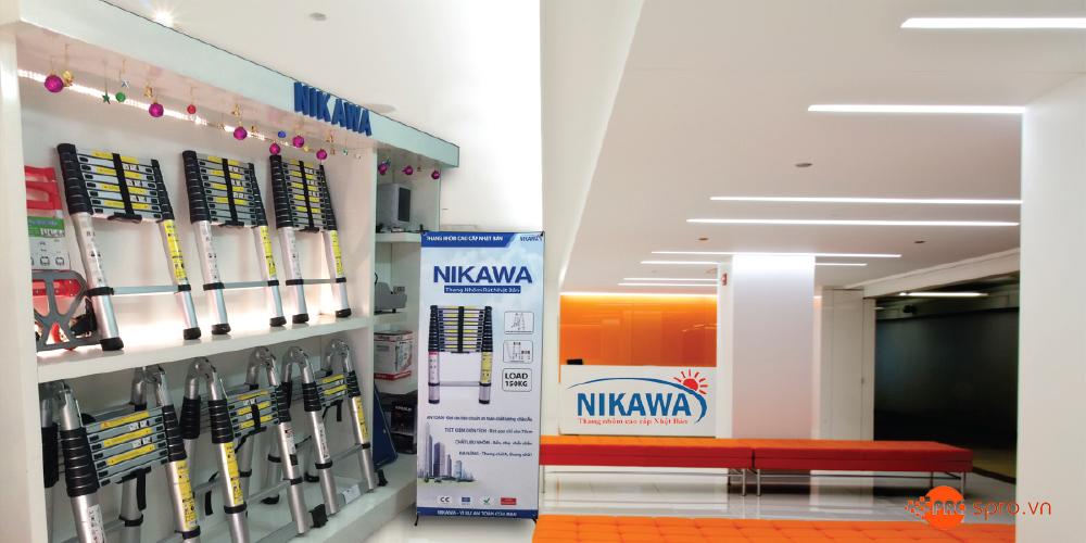 showroon thang nhôm rút nikawa nk-38