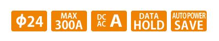 Ampe kìm AC/DC KYORITSU 2033, K2033 (40/300A) hàng Nhật chất lượng cao