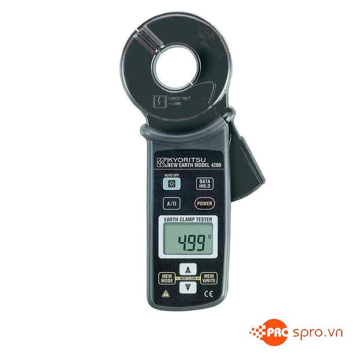 Ampe kìm đo điện trở đất Kyoritsu 4200, K4200 (20Ω~1200Ω)