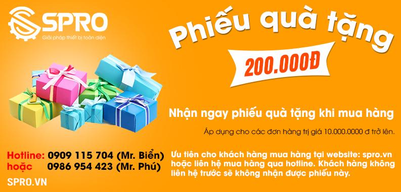 Phiếu quà tặng 200 ngan cua SPRO