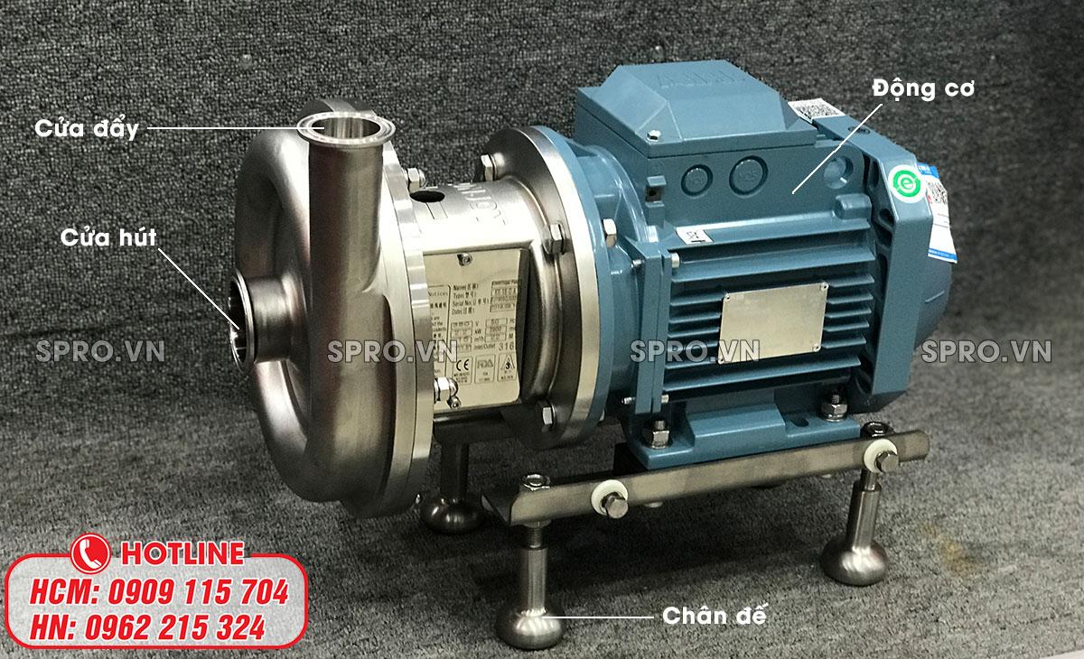 cấu tạo máy bơm ly tâm