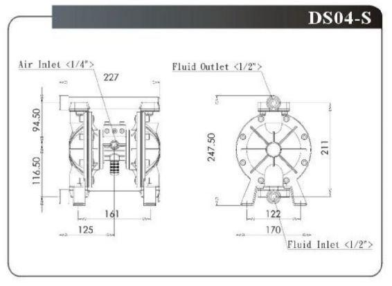 Bơm màng khí nén DS04