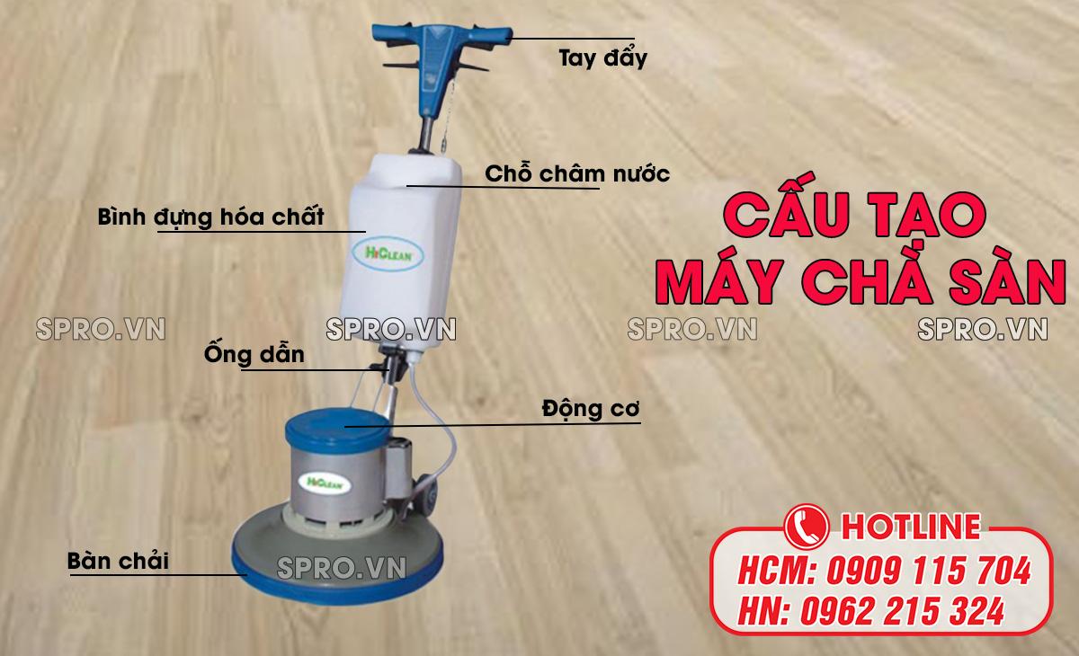 cấu tạo máy chà sàn