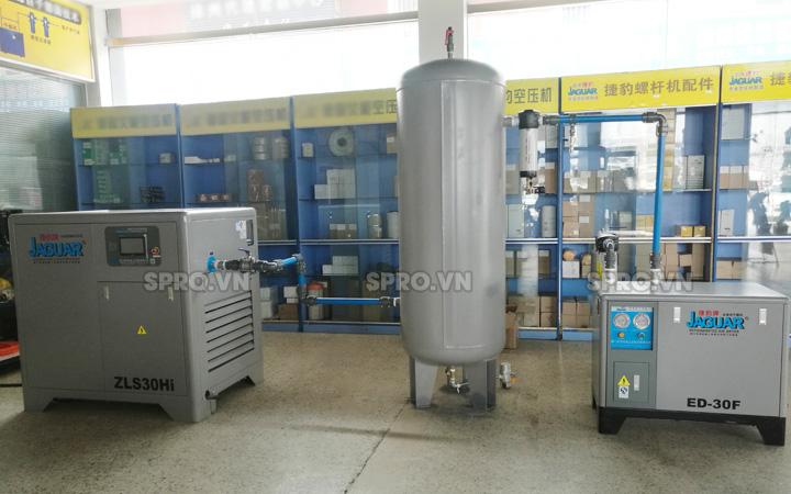 hệ thống máy nén khí trục vít biến tần jaguar 30hp