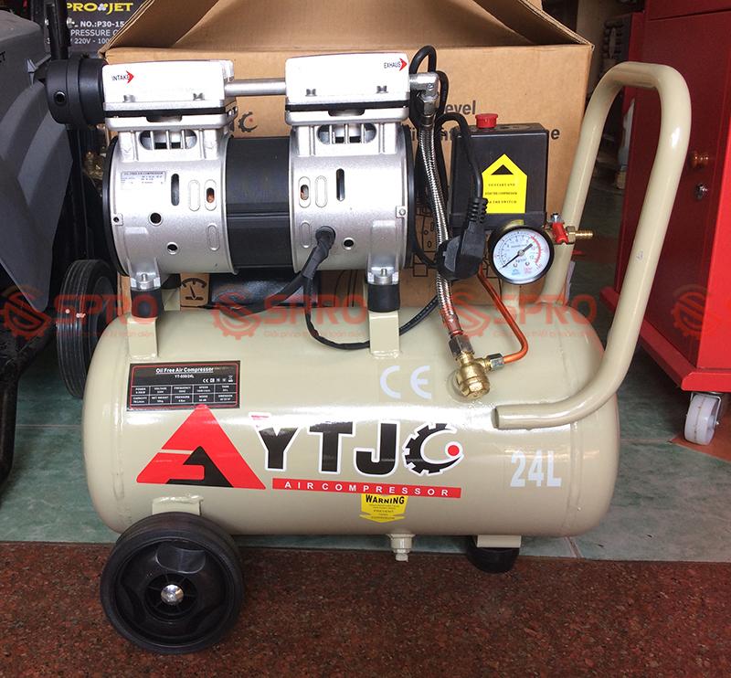 Máy bơm hơi mini, máy nén khí không dầu 1HP YTJC YT-550/24L dung tích 24L