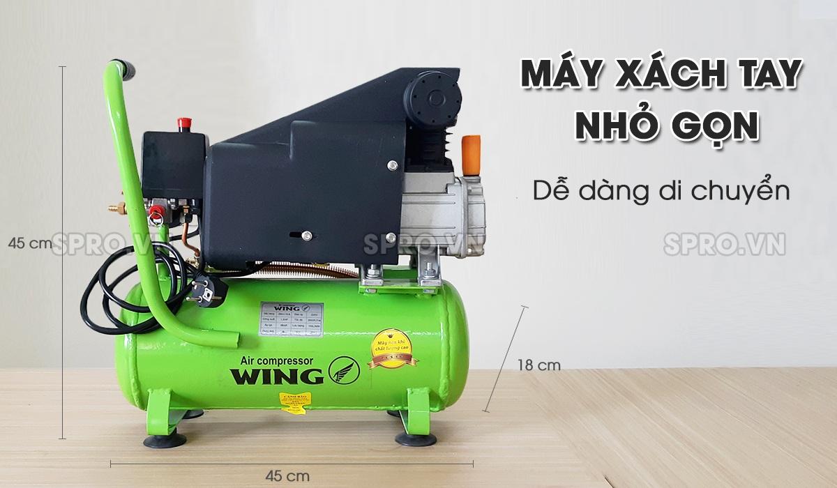 Máy nén khí mini 1.5HP Wing TM-0.1/8-9L - Dung tích 9L