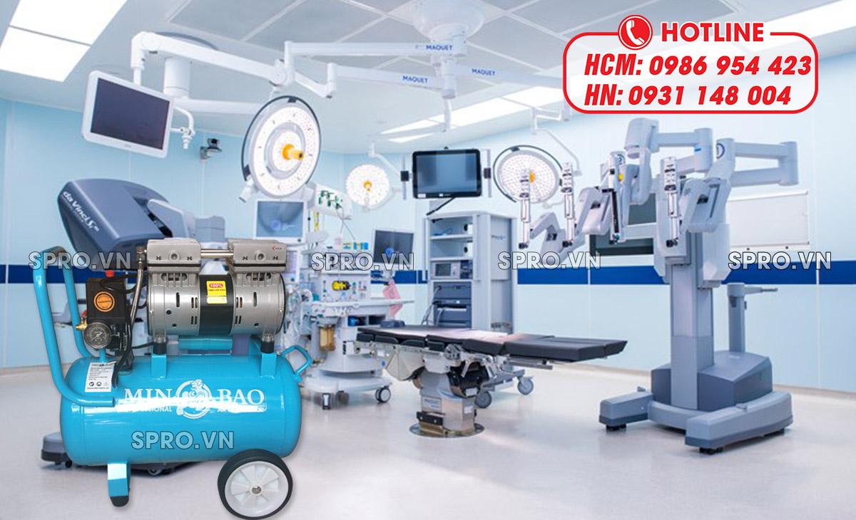Ứng dụng của máy nén khí mini không dầu trong y tế