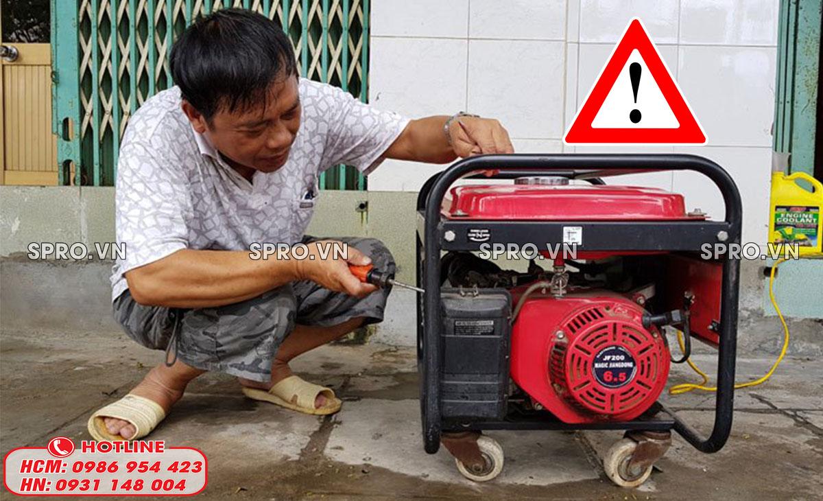 lưu ý quan trọng khi sử dụng máy phát điện 1 pha