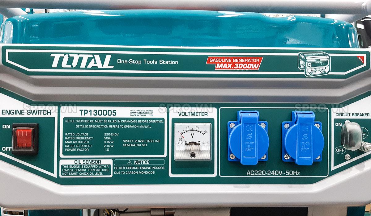 không sử dụng máy phát điện total quá tải