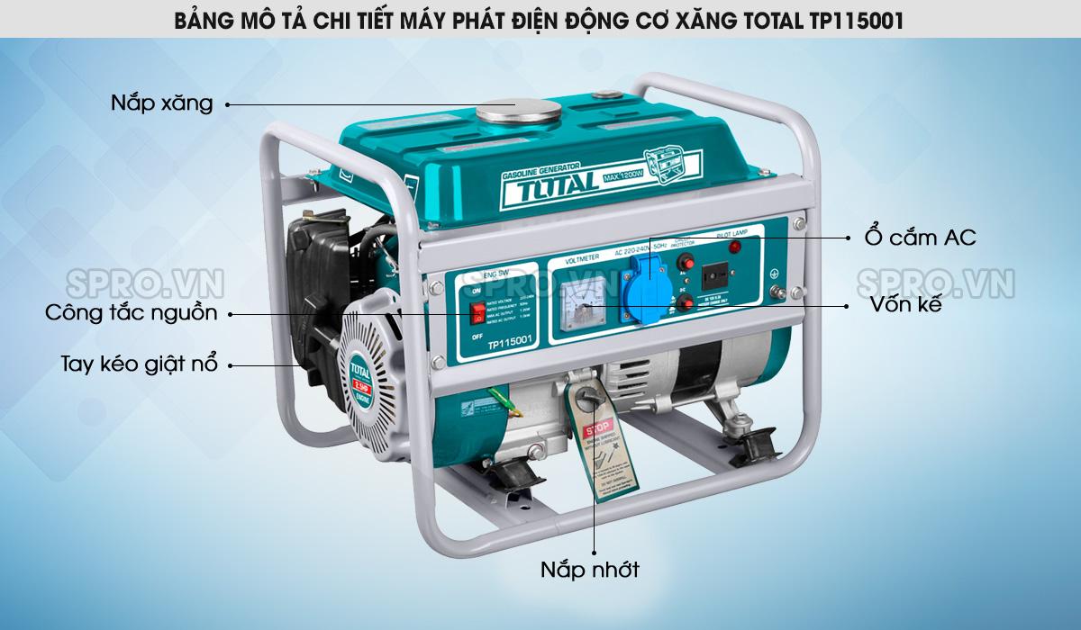 máy phát điện total
