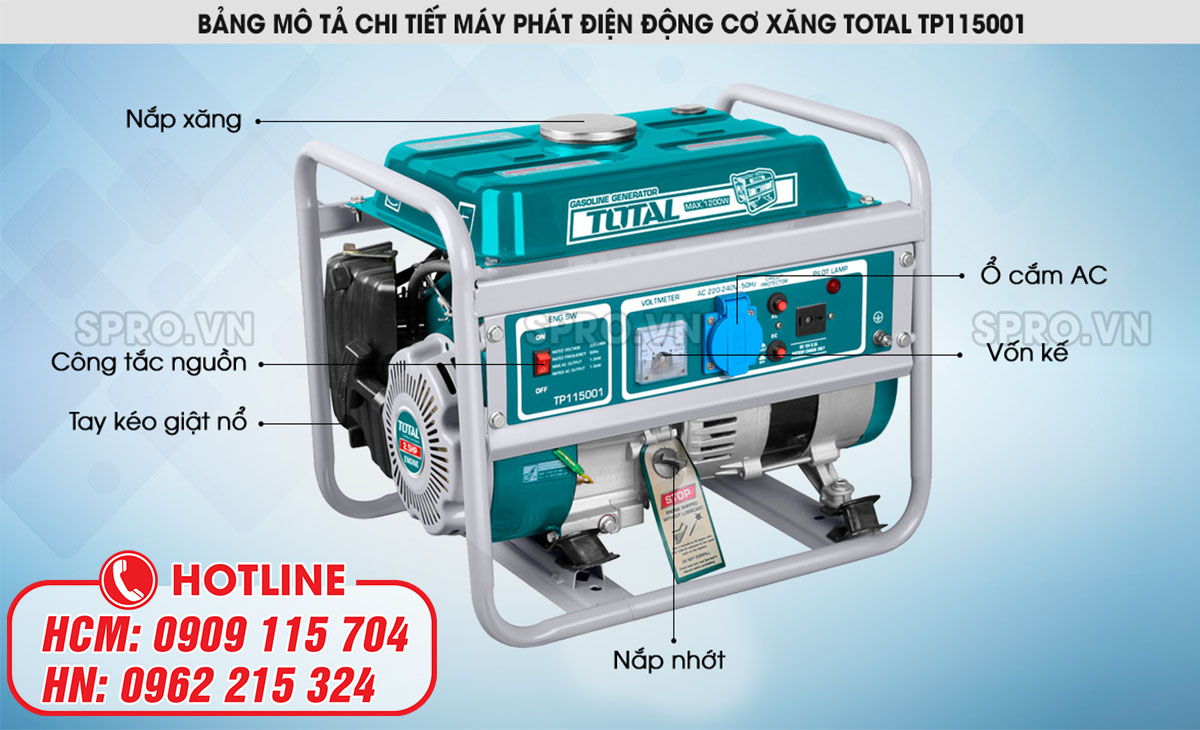 cách chọn máy phát điện chạy xăng