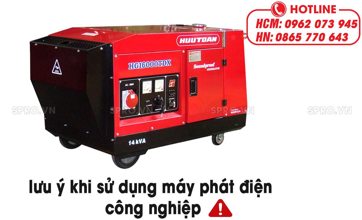 lưu ý khi sử dụng máy phát điện công nghiệp