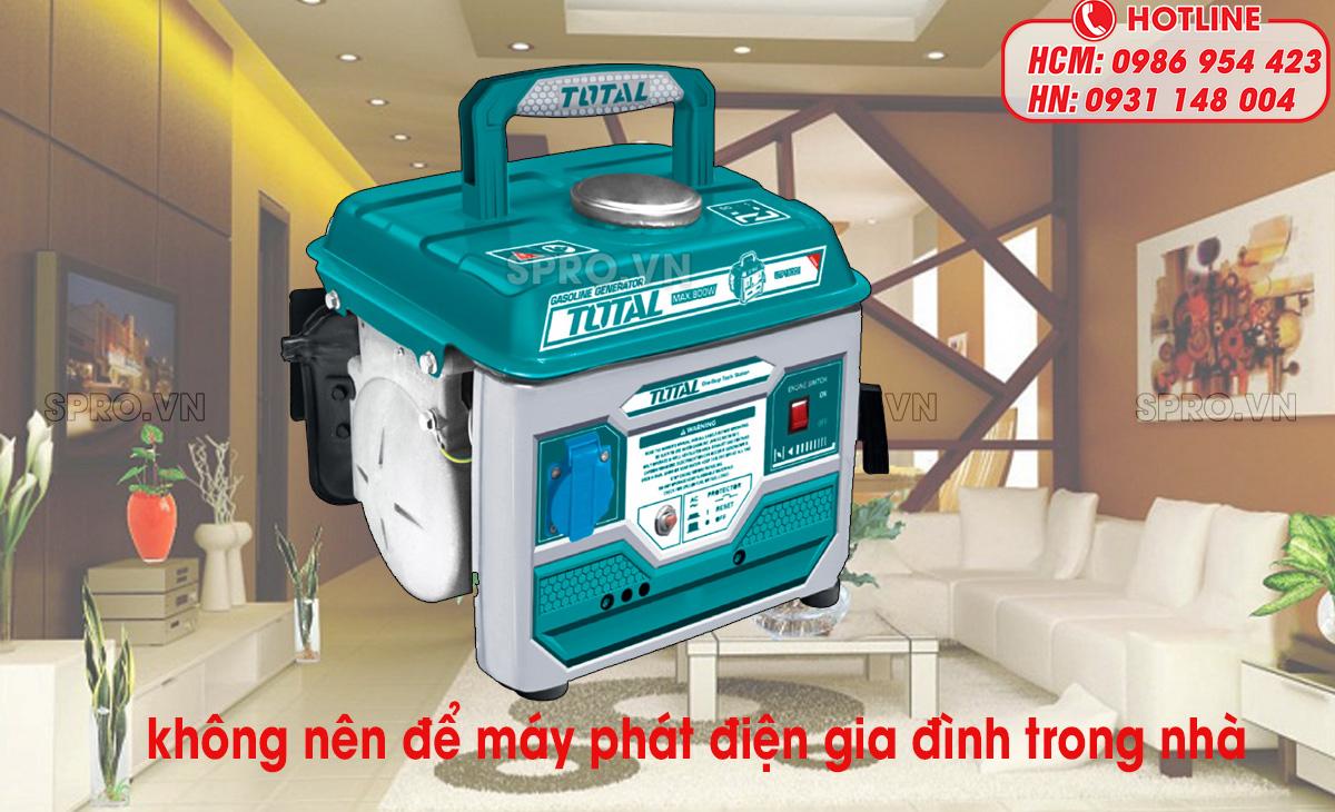 lưu ý khi sử dụng máy phát điện gia đình