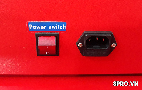 công tắc nguồn van xả Máy kiểm tra và súc rửa kim phun xe máy AT2 Plus