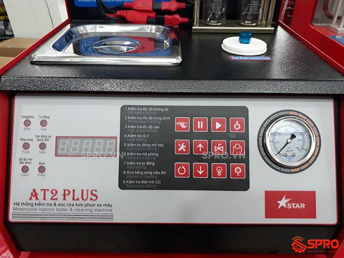 Màn hình điều khiển Máy kiểm tra và súc rửa kim phun xe máy AT2 Plus