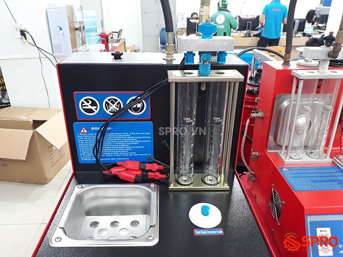 thùng siêu âm và ống kiểm tra lưu lượng phun máy súc béc at2 plus