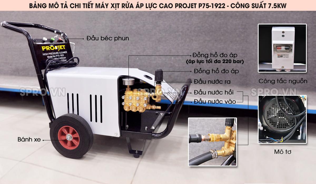 máy rửa xe cao áp projet p75-1922