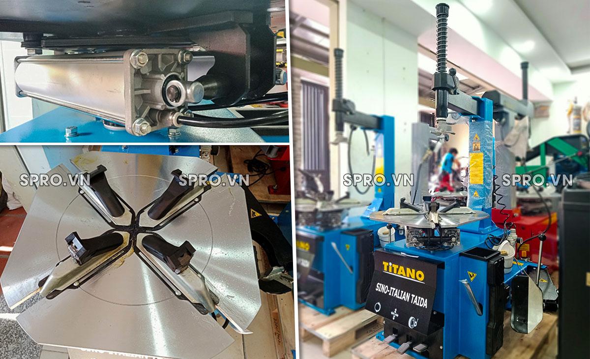 mâm và piston máy tháo vỏ Titano STD-106