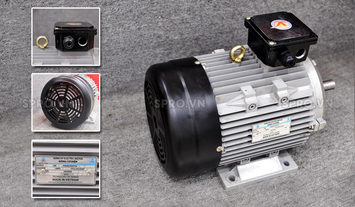 Mô tơ Hồng Ký HKM7.534VN 3 pha vỏ nhôm công suất 7.5 HP
