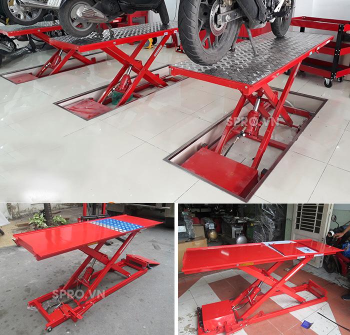 bàn nâng sửa xe máy giá rẻ spro