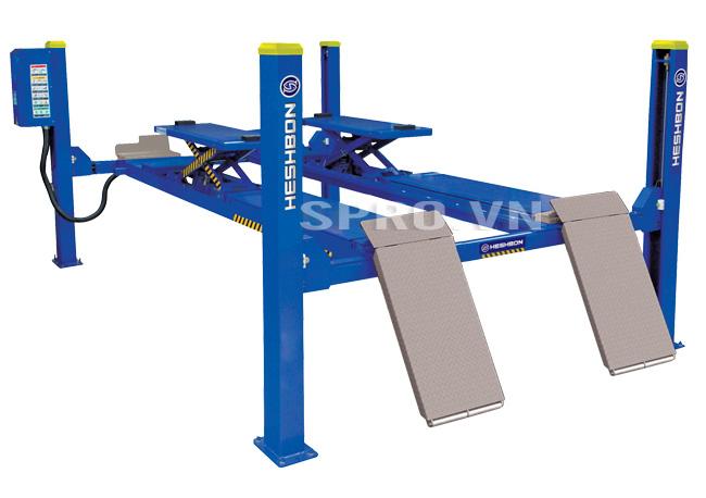 Cầu nâng 4 trụ tích hợp căn chỉnh góc đặt bánh lái