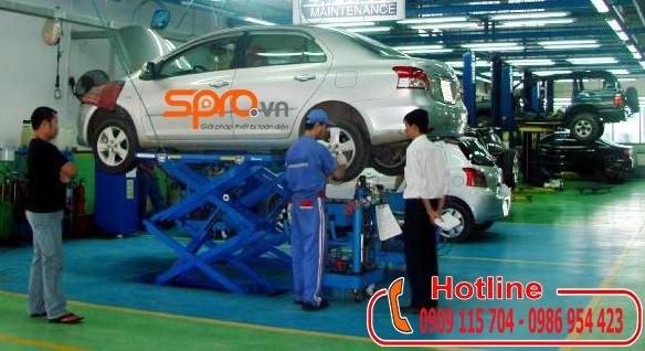 Cầu nâng cắt kéo chuyên dùng để sửa gầm