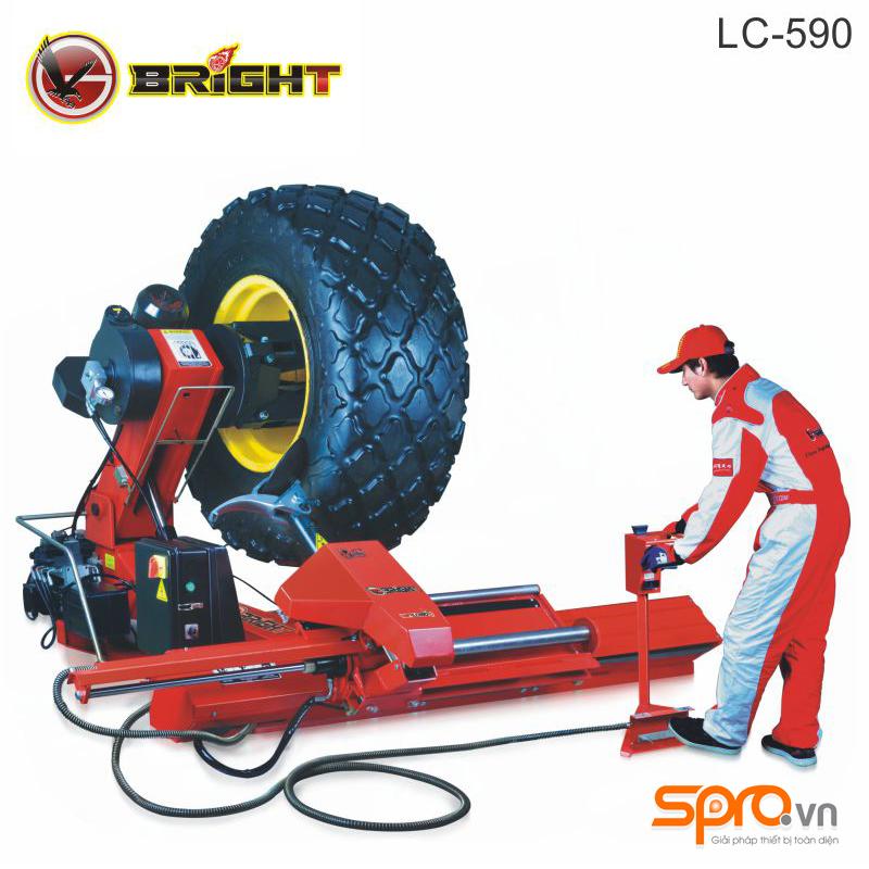 Máy tháo vỏ, ra vào lốp xe tải cỡ lớn Bright LC-590 công nghệ Pháp