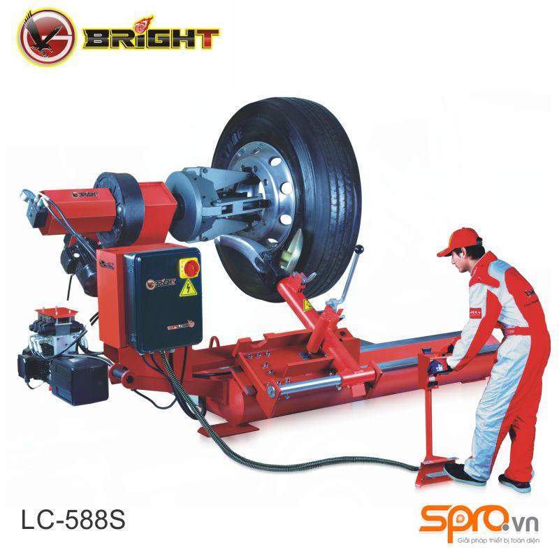 Máy tháo vỏ, máy ra vào lốp xe tải cỡ lớn Bright LC-588S công nghệ Pháp