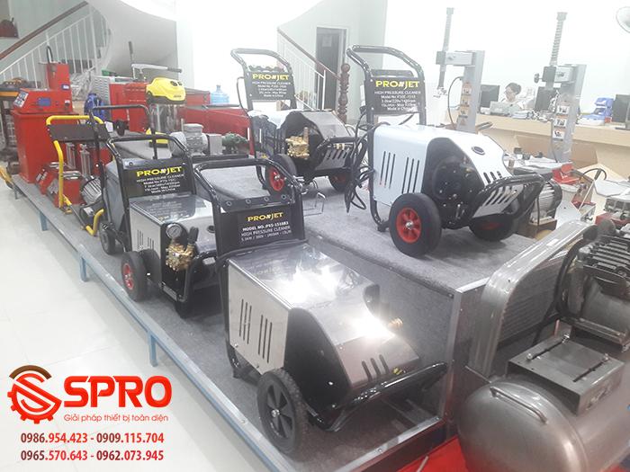 Các loại máy xịtrửa áp lực cao tại SPRO ( Hàng trưng bày)