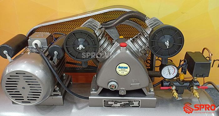 chi tiết Máy nén khí piston 2HP 1 cấp Jaguar EV51H100 - Dung tích 100L