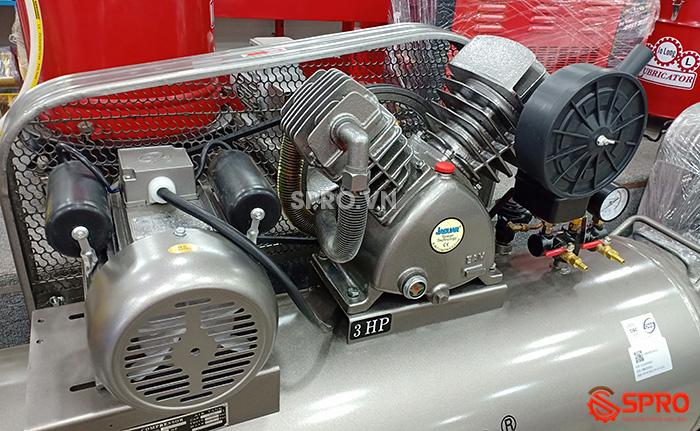 chi tiết Máy nén khí piston 3hp jaguar HEV70H200 dung tích 200L