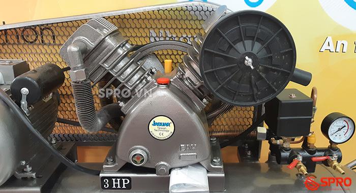 Đầu nén 2 cấp 3HP Máy nén khí piston Jaguar HEV70H160 bình chứa 160L