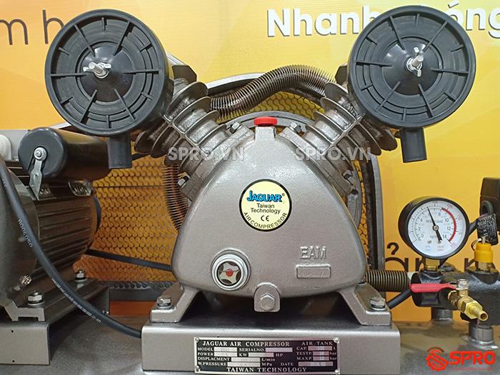 đầu nén Máy nén khí piston 2HP 1 cấp Jaguar EV51H100 - Dung tích 100L