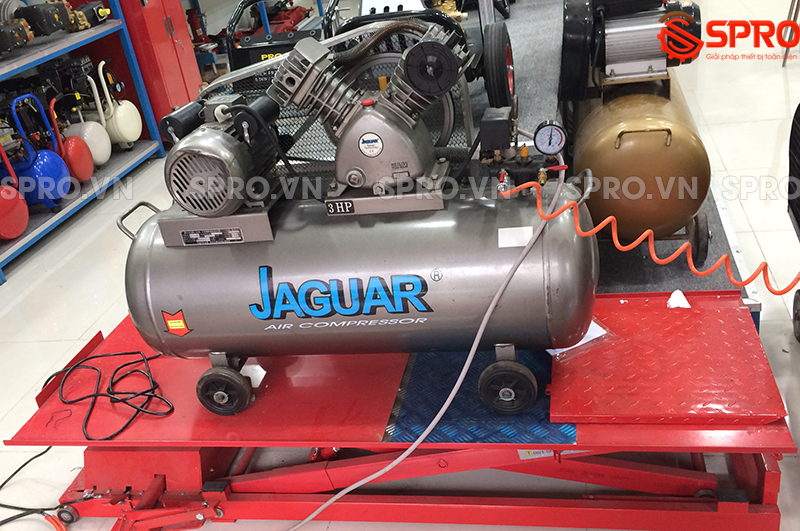 máy bơm hơi, Máy nén khí piston 3HP 1 cấp Jaguar EV65H100 - Dung tích 100L